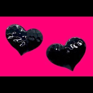 Super Cute & Sexy Black Metal Heart Earrings 🖤🖤